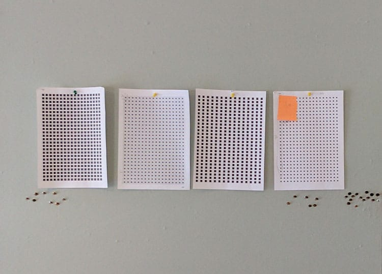 Image of different sized dots for 'Cascade'