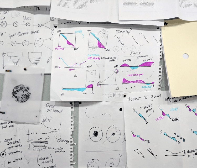 Sketches showing data visualization exploration