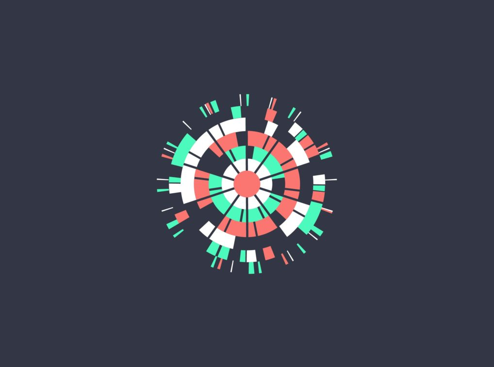Radial data visualization from the Beyond Words showreel